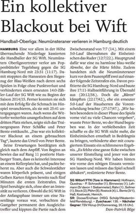 18. Spieltagswochenende, Holsteinischer Courier