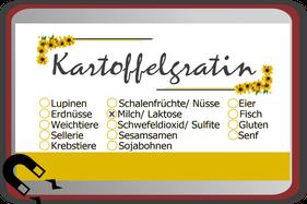 Buffetschild Buffetbeschilderung Allergene Kennzeichnung