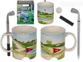 Mug golf avec tasse stylo et balle