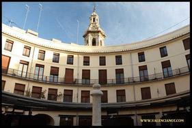 Foto  del interior de  la Plaza Redonda de Valencia.