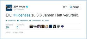 ZDF Heute: Tippfehler im Urteil Hoeness