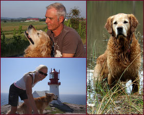 Hundebetreuung mit Familienanschluss.   Hier mit unseren Hunden Kira und Finley die leider schon von uns gegangen sind.