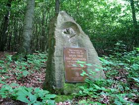 Gedenkstein für den letzten Wolf