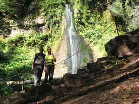 Vor dem Sankenbachwasserfall