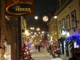 Festliche Stimmung in der Altstadt von Quebec City