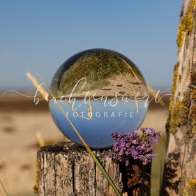 beachtenswert fotografie, Fotokunst, Glaskugel, Nordstrand, Nordfriesland