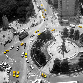 beachtenswert fotografie, Fotokunst, New York, Skyline, Columbus Circle, Amerika, Taxi