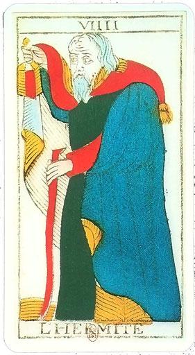 Hermite - Tarot de Marseille Nicolas Conver - Edition Heron - Tarots de Cornelius