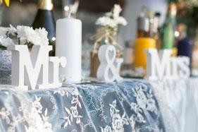 Rustic Wedding Centerpiece Table Decor - Happy Wedding Art