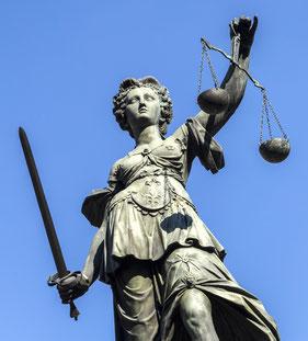 Justitia - Personifikation von Recht und Gerechtigkeit