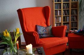 Bild: Sessel und Wohnzimmerecke
