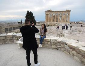 Daran kommt kein Athen-Besucher vorbei: das Parthenon auf der Akropolis ist Athens Touristenmagnet. Foto: Christoph Schumann, 2020