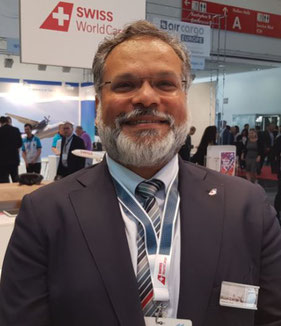 Swiss WorldCargo's freight Chief Ashwin Bhat with new looks  -  photo: hs