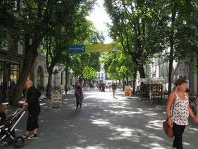 Die Schillerstraße in Weimar.