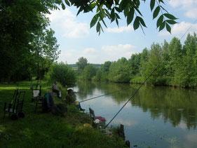Camping avec peche en étang et en rivière dans la Somme en Picardie