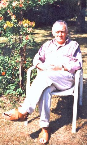 """Johannes Conrad  1993  """"auf dem Lande"""", im elterlichen Grundstück Am Taubenberg 9 in Radeberg"""