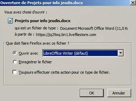 Ouverture avec LibreOffice