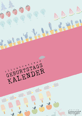Geburtstagskalender Illustrationen Studio Keregan