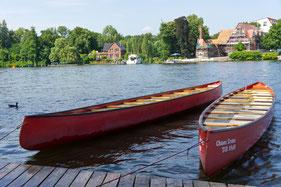 Kanufahren in Berlin mit zehner Kanus