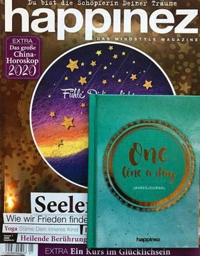Happinez Extra Seelenfrieden + Tagebuch - Magazin