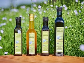 Frisches Bio-Leinöl kaufen, Leinsamenöl aus heimischer Leinsaat, deutsche Bio-Leinsaat