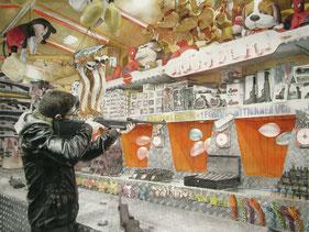 Julien Gorgeart. Playtime, 2014. Aquarelle, 49,5 × 37,5 cm