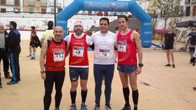 Atletas del Club Maratón Lucena participantes en la I Carrera de Montaña Villa de Rute.MÁS FOTOS