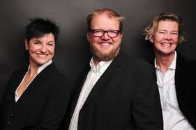 Anja Kossak, Prof. Dr. Hartmut Reinke und Bettina Burmester