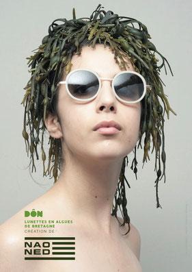©Naoned, Affiche Collection DÔN, Lunettes en algues de Bretagne