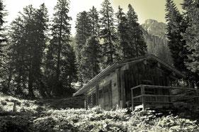 Berghütte , Hütte , Bayern , Alpen , Allgäu , Wald , berge , Mountains , Germany, Wandern , Trekking ,