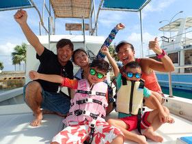 石垣島でのんびりダイビング「家族でシュノーケリング」