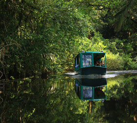 Bootsfahrt im Nationalpark Tortuguero in Costa Rica