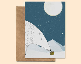 Polar Winter - greeting card
