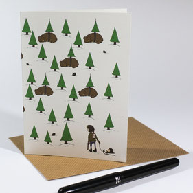 Save The Trees - greeting card
