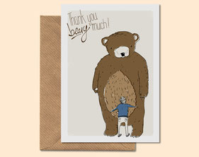 Thank You Beary Much - greeting card