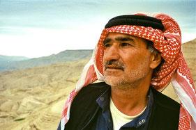 Beduine am Toten Meer