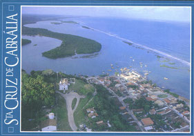 Sta. Cruz Cabrália, south of Bahia, where the land to sell is located