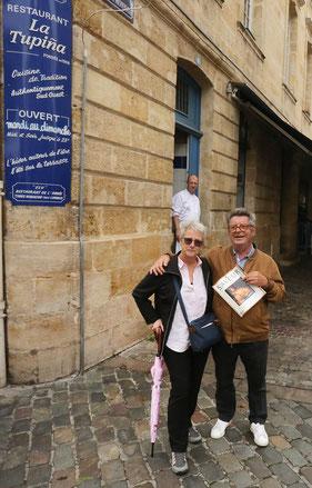 Grandma & Jean-Pierre at La Tupina . . .