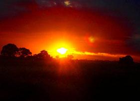 der prächtige Sonnenuntergang versprach gutes Wetter