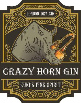 Etikett Kuki´s Fine Spirit, Crazy Horn Gin