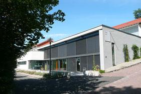 Außenansicht der Mensa in der Hermann-Schafft-Schule, Homberg