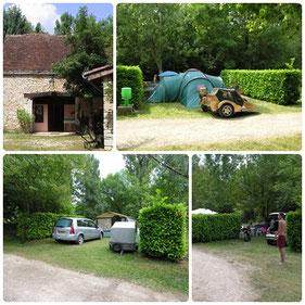 Camping *** Le Moulin des Donnes, Lot, les Emplacements