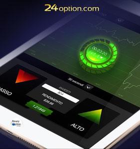 bonus senza deposito con app di 24option opzioni binarie