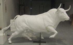 Escultura de Toro de Lidia, Ampliación a Bronce
