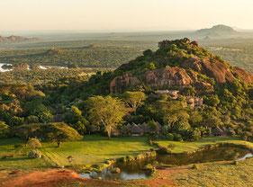 Panoramica Ol jogi Ranch Laikipia Plateau. Kenya