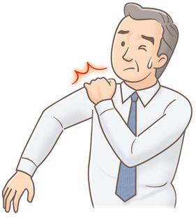 五十肩ー若い時の使い痛めが原因?