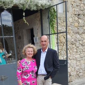 Lionel & Pascale Déprez propriétaires du Château La Hitte à Lavardac en Nouvelle Aquitaine