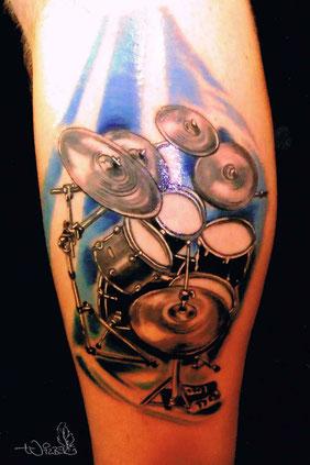 Musik-Tattoo: Schlagzeug