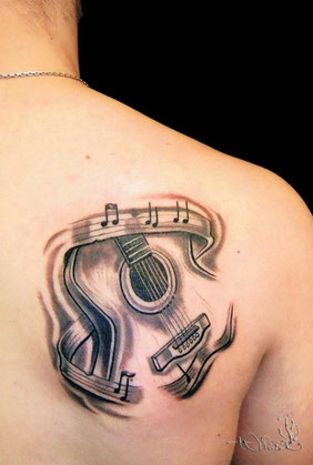 Musik-Tattoo: Gitarre