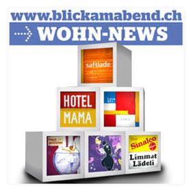"""Presseveröffentlichung """"Blick am Abend"""" 13.05.2011, Würfelleuchten von Licht.Spiel-Haus.com"""